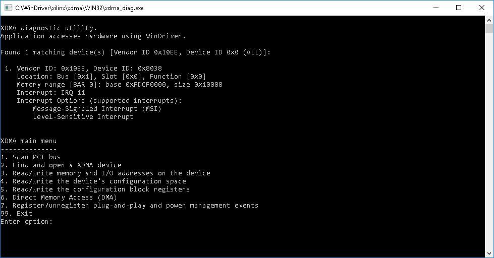 The <code>xdma_diag</code> utility